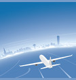 malmo skyline flight destination vector image