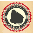 Vintage label-sticker cards of Uruguay vector image