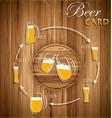 Beer card vector image