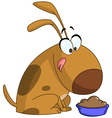 dog getting ready to eat vector image vector image