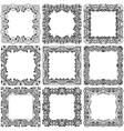 Black frame set vector image
