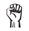 black Fist vector image vector image