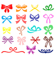 bow set color vector image vector image