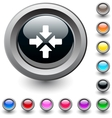 Click here round button vector image