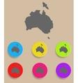 Australia Map - icon isolated vector image