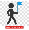 Child Flag Guide Eps Icon vector image