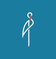 Stork outline logo sign flat vector image