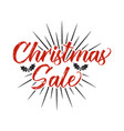 super christmas sale lettering and typography vector image