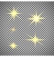 Transparent background gold star light vector image