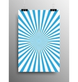 Vertical Poster Blue Shining Sun-Rays Rays vector image