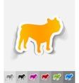 realistic design element french bulldog vector image