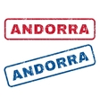 Andorra Rubber Stamps vector image