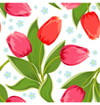 tulip seamless2 vector image vector image