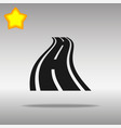 road black icon button logo symbol vector image