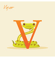 Animal alphabet with viper vector image vector image