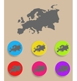 Europe Map - icon isolated vector image