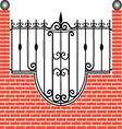 Fence of brick and iron vector image