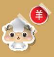 Chinese Zodiac Sign Sheep Sticker vector image