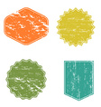 Clear mockup logo badge set retro labels shabby vector image