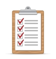 clipboard and checklist vector image