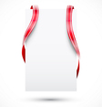 Blank tag with ribbon vector image vector image