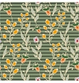 Floral seamless pattern Horizontal stripes Herbs vector image