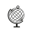 globe with pin icon vector image