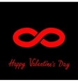 Limitless red sign symbol Infinity icon Happy vector image