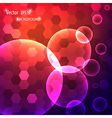 modern background with circles vector image
