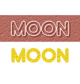 Moon Letters from Lunar yellow texture vector image