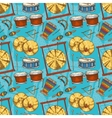 Seamless Pattern Percussion Musical Instruments vector image