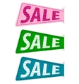set sale sticker vector image