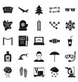 spectacles icons set simple style vector image