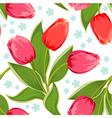 tulip seamless2 vector image