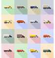 truck flat icons 18 vector image