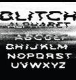 glitch alphabet no signal background error vector image vector image