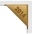 gold christmas corner vector image