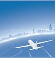 manila skyline flight destination vector image