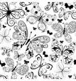 Monochrome black seamless pattern vector image vector image