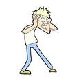 comic cartoon man panicking vector image