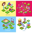 Playground 2x2 Images Set vector image