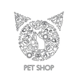 Pets Shop Poster vector image vector image
