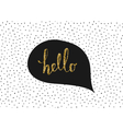 Hello Greeting Card vector image