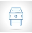 Church fundraising blue flat line icon vector image