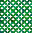 Green abstract curved pattern background vector image