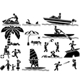 ICON MAN SUMMER vector image