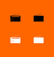 radio black and white set icon vector image