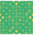 Seamless rusty cogwheel pattern vector image