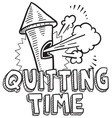 Quitting time vector image vector image