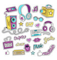 hipster patch badges vector image
